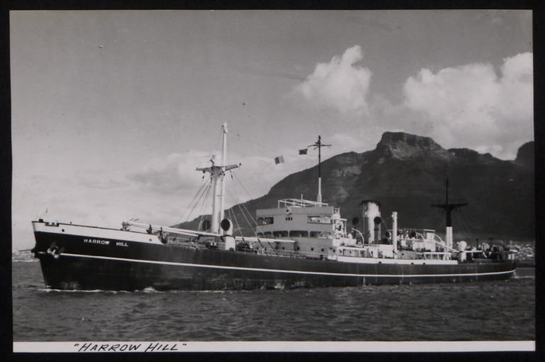 Photograph of Harrow Hill, Counties Ship Management Company card