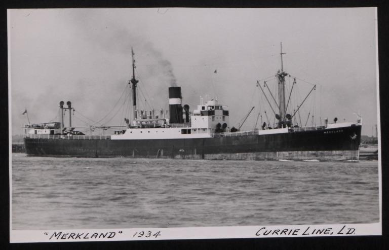 Photograph of Merkland, J Currie and Company card