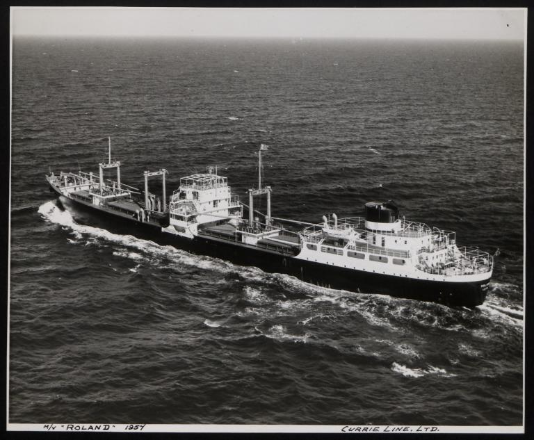 Photograph of Roland, Currie Line card
