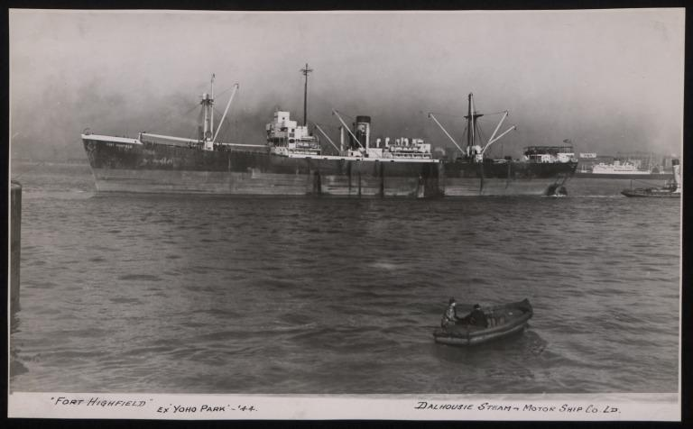 Photograph of Fort Highfield (ex Yoho Park), Dalhousie Steam and Motorship Co card
