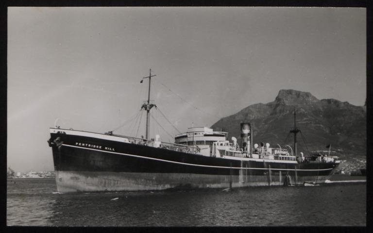 Photograph of Pentridge Hill, Counties Ship Management Company card
