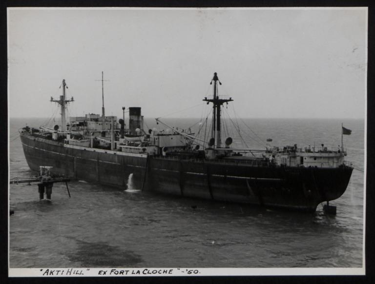 Photograph of Akti Hill (ex Fort La Cloche), Counties Ship Management Company card