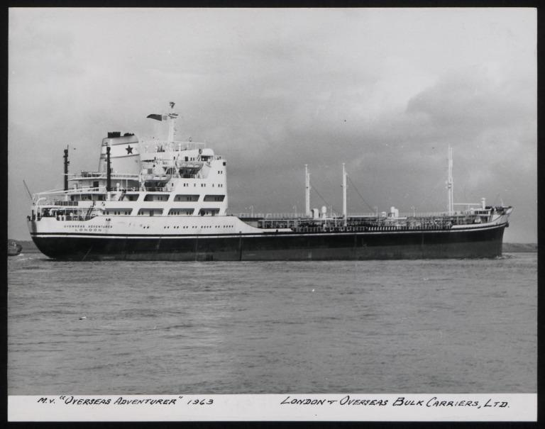 Photograph of Overseas Adventurer, London and Overseas Freighters card