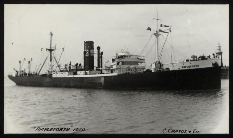 Photograph of Ampleforth, Ampleforth Steamship Company Ltd card
