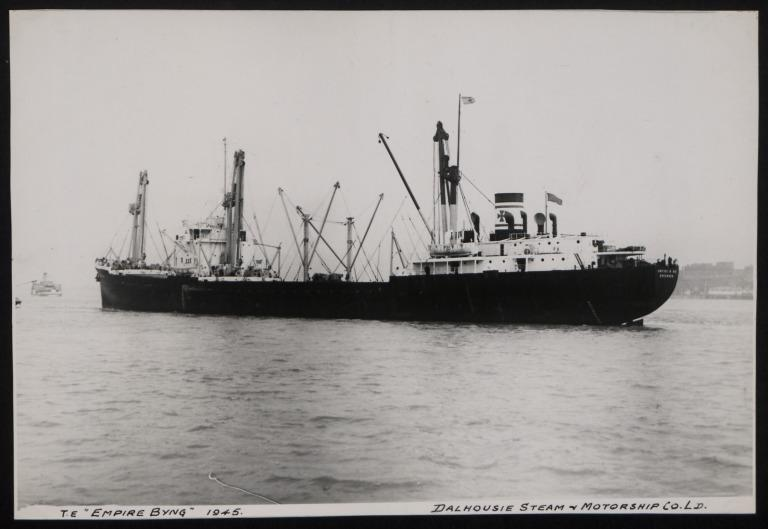 Photograph of Empire Byng, Dalhousie Steam and Motorship Co card