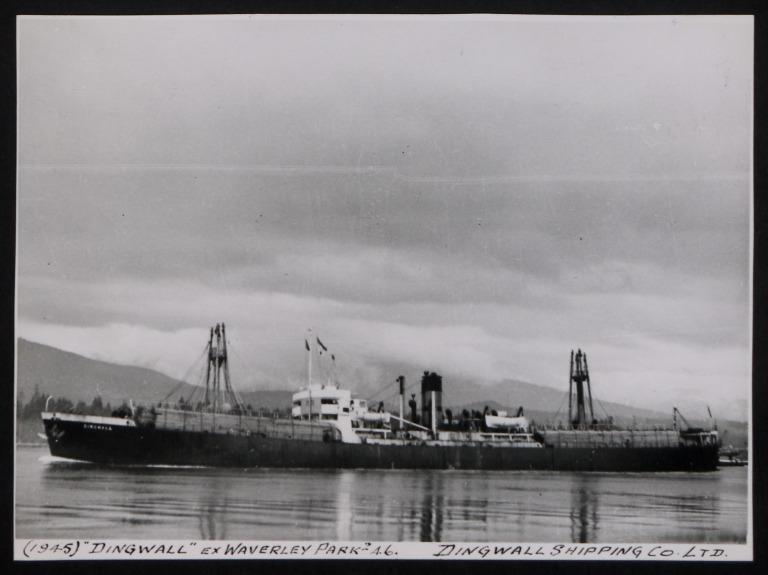Photograph of Dingwall (ex Waverley Park), Dingwall Shipping Co Ltd card