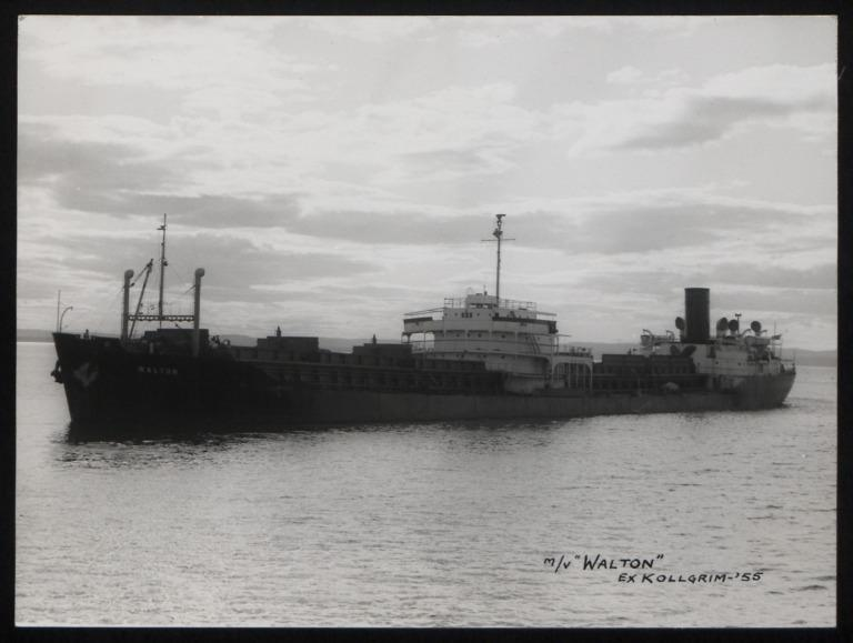 Photograph of Walton (ex Kollgrim), Dingwall Shipping Co Ltd card