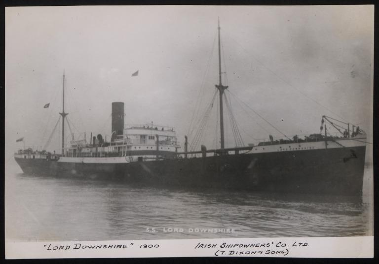 Photograph of Lord Downshire, T Dixon and Sons card