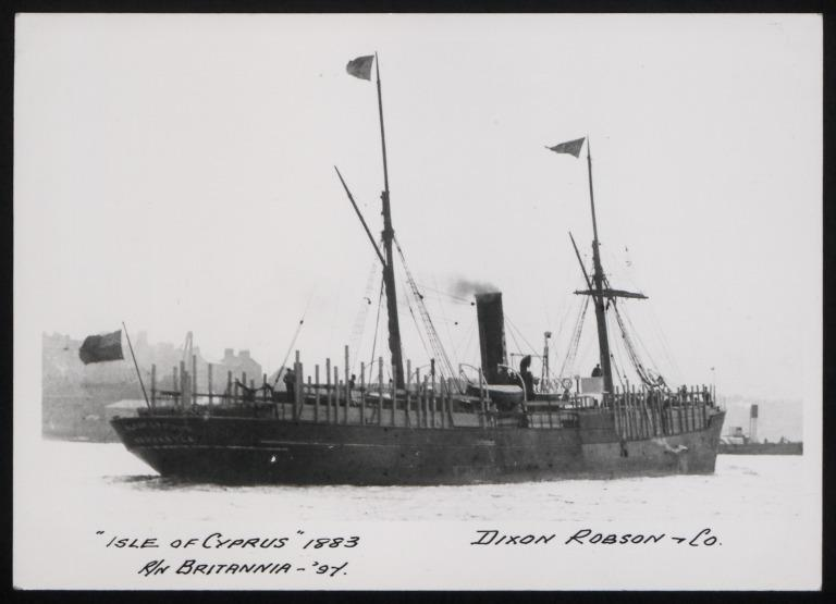 Photograph of Isle of Cyprus, T Dixon and Sons card