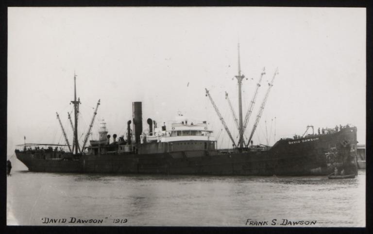 Photograph of David Dawson, Georgian Steam Nav Co card