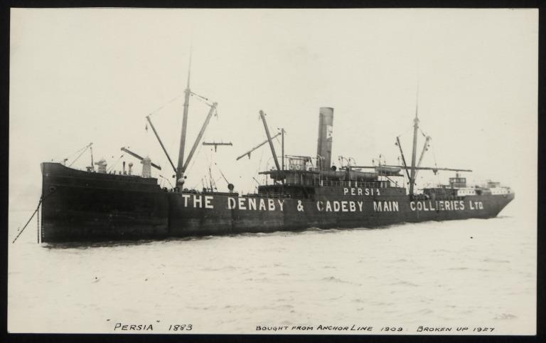 Photograph of Persia, Denaby and Cadeby Collieries card