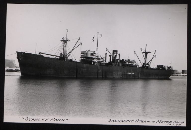 Photograph of Stanley Park, Dalhousie Steam and Motorship Co card