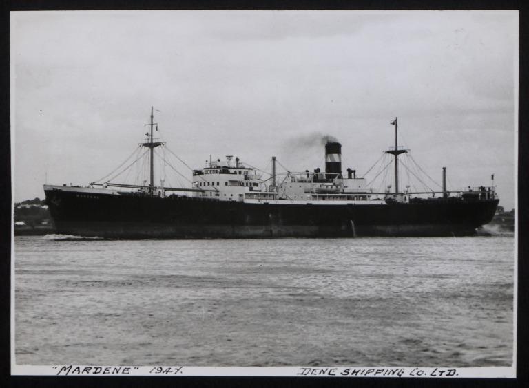Photograph of Mardene, Dene Shipping Company card