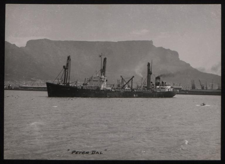 Photograph of Peter Dal, Dalhousie Steam and Motorship Co card
