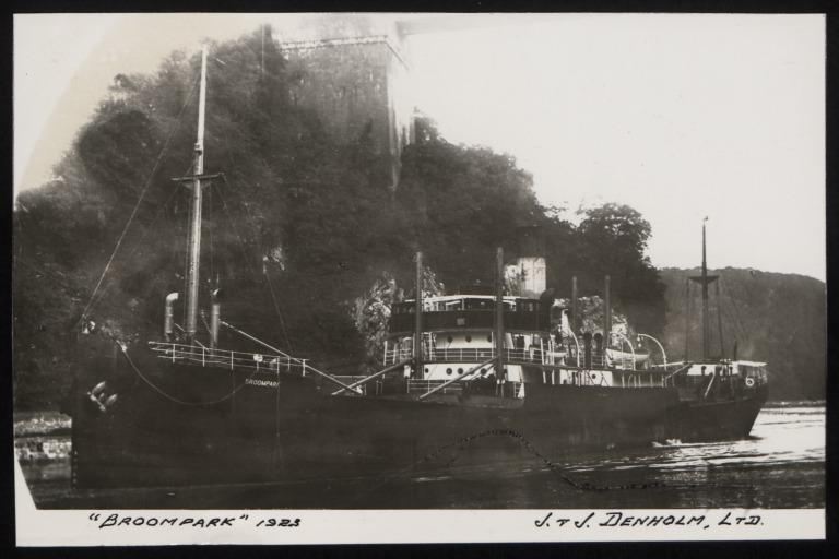 Photograph of Broompark, J and J Denholm card