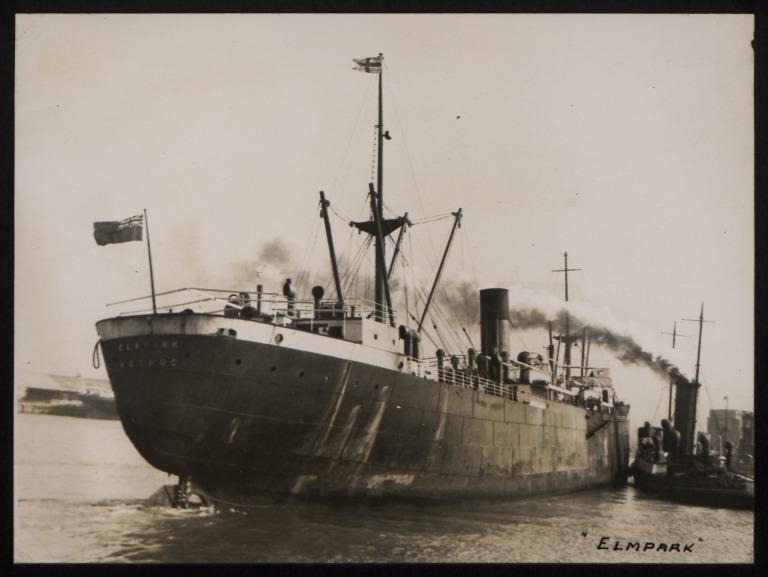Photograph of Elmpark, J and J Denholm card