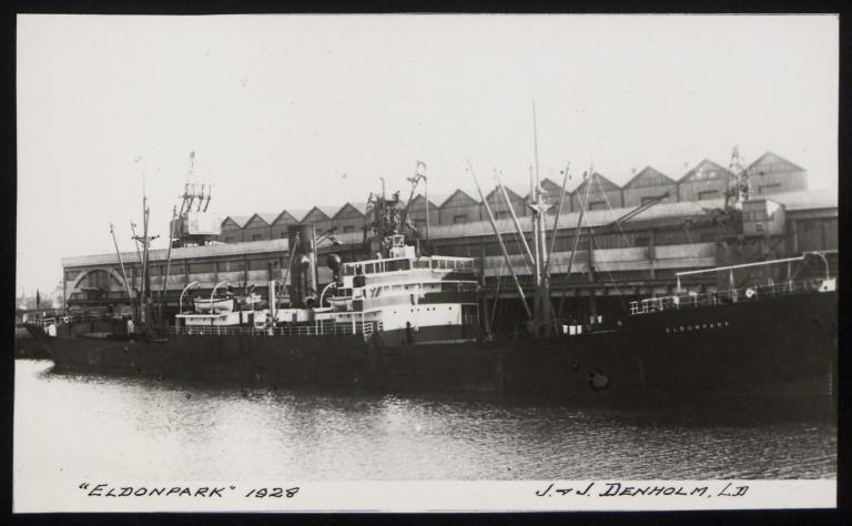 Photograph of Eldonpark, J and J Denholm card
