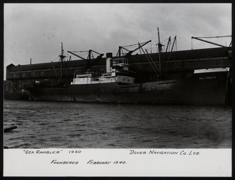 Photograph of Sea Rambler, Dover Navigation Co card