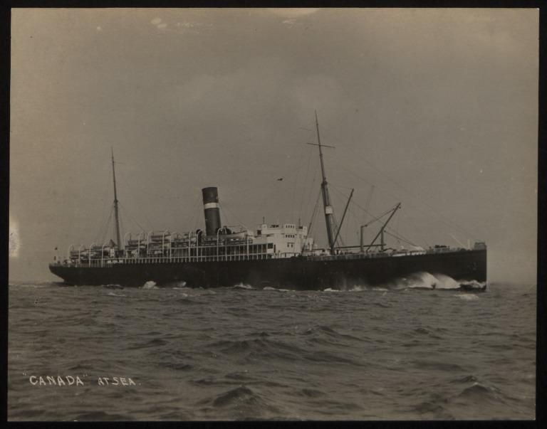 Photograph of Canada, Dominion Line card