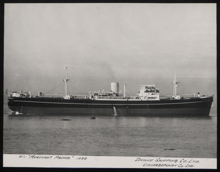 Photograph of Merchant Prince, Drake Shipping Co Ltd card