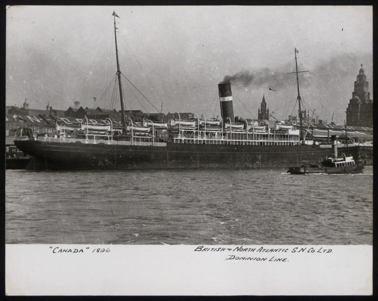 Photograph of Canada, Dominion Line card
