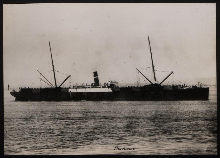 Photograph of Merrimac (ex Alexander Elder), Dominion Line card