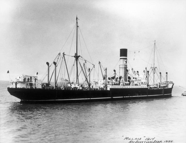 Photograph of Millais, Blue Star Line card