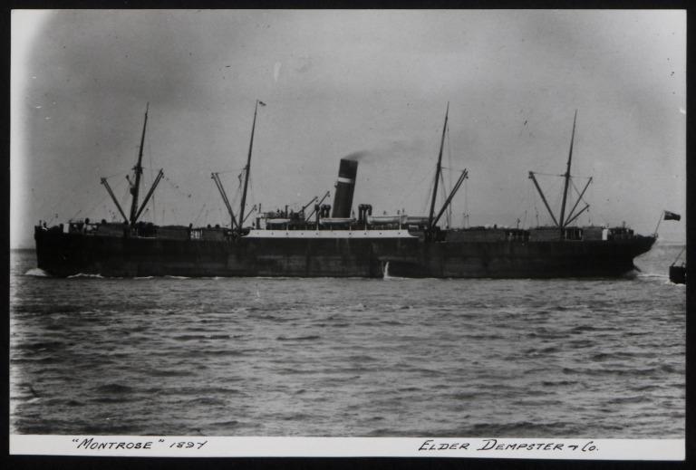 Photograph of Montrose, Dominion Line card