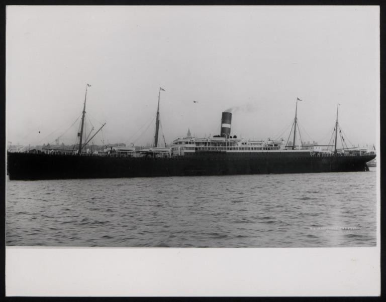 Photograph of Mayflower, Dominion Line card