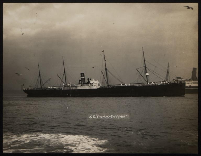 Photograph of Cornishman (ex Nomadic), Dominion Line card