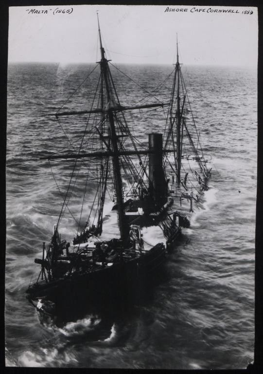 Photograph of Malta, Cunard Line card