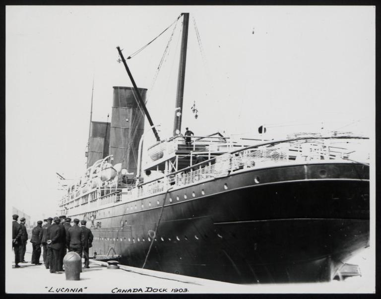 Photograph of Lucania, Cunard Line card