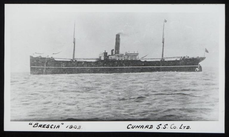 Photograph of Brescia, Cunard Line card