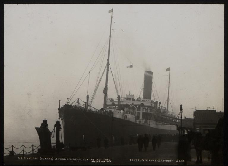 Photograph of Slavonia, Cunard Line card
