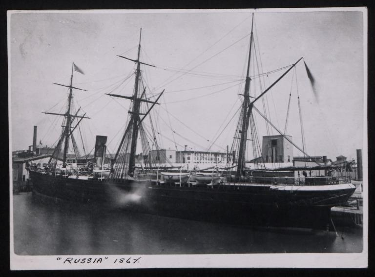Photograph of Russia, Cunard Line card
