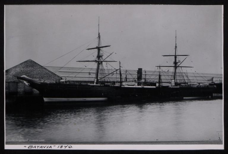 Photograph of Batavia, Cunard Line card