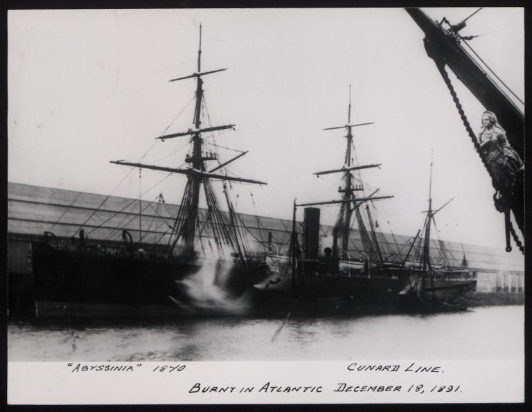 Photograph of Abyssinia, Cunard Line card