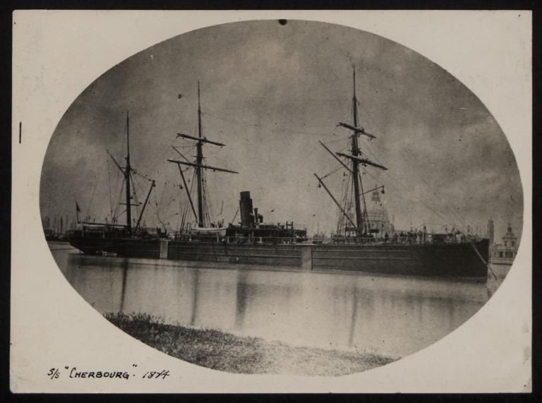 Photograph of Cherbourg, Cunard Line card