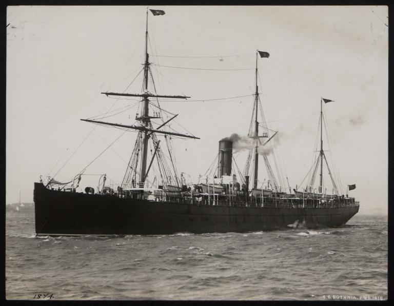 Photograph of Bothnia, Cunard Line card