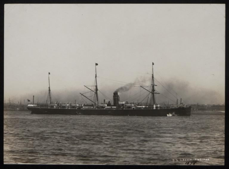 Photograph of Gallia, Cunard Line card