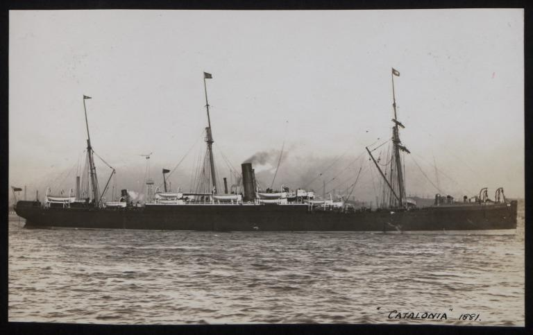 Photograph of Catalonia, Cunard Line card