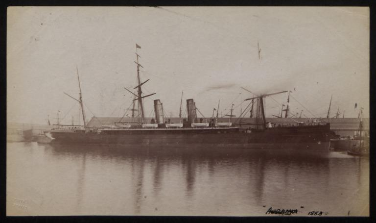 Photograph of Aurania, Cunard Line card