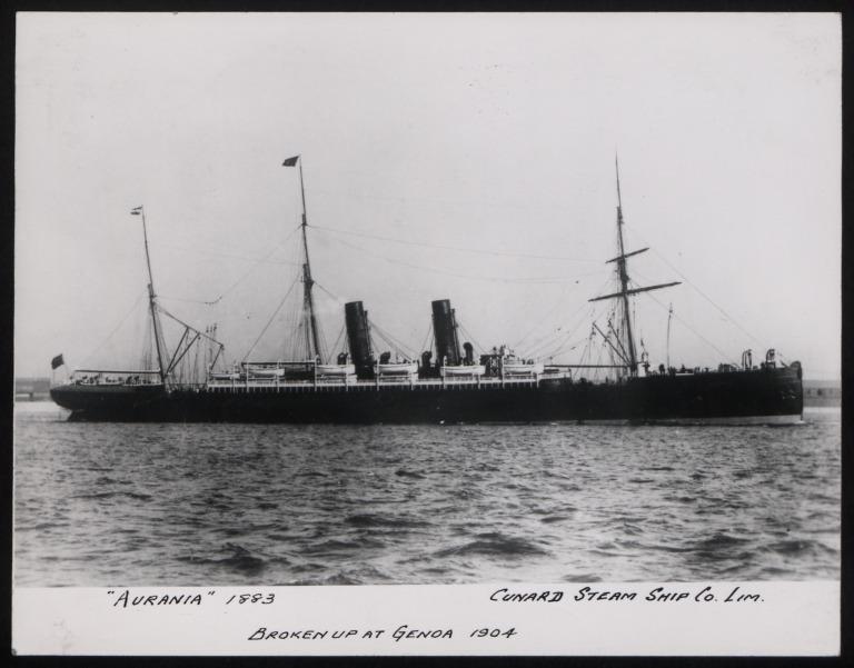 Photograph of Aurania, Cunard Line card