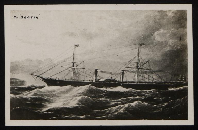 Photograph of Scotia, Cunard Line card