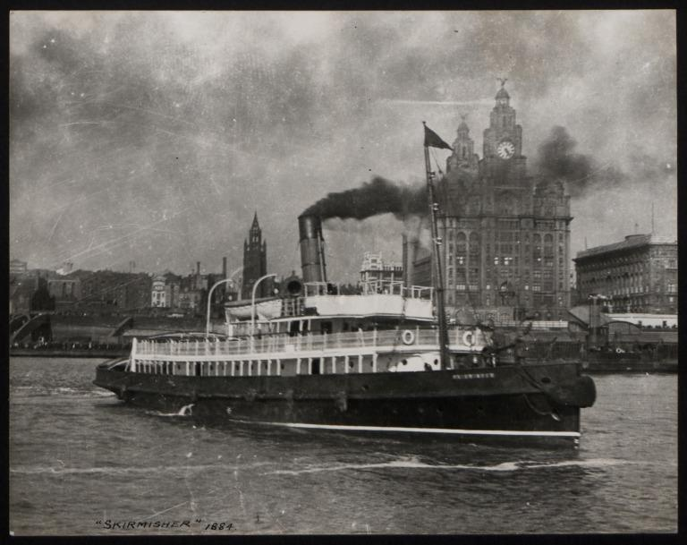 Photograph of Skirmisher, Cunard Line card