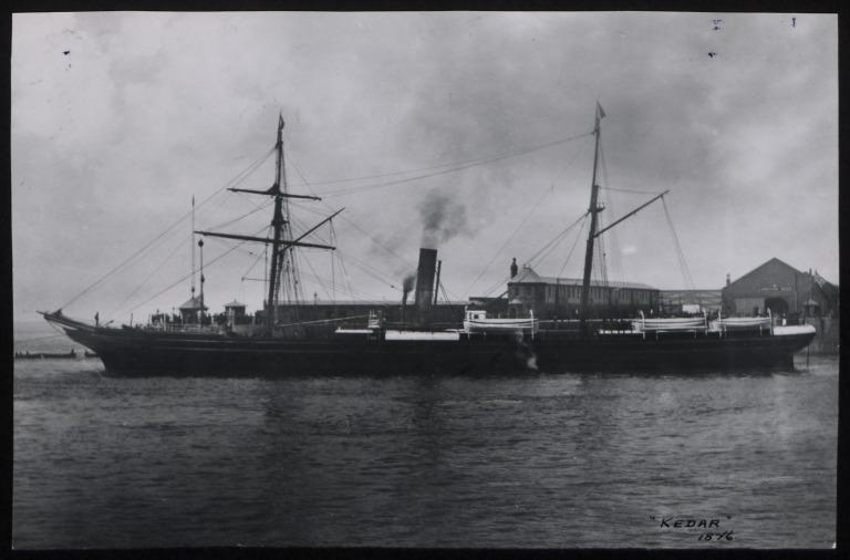 Photograph of Kedar, Cunard Line card