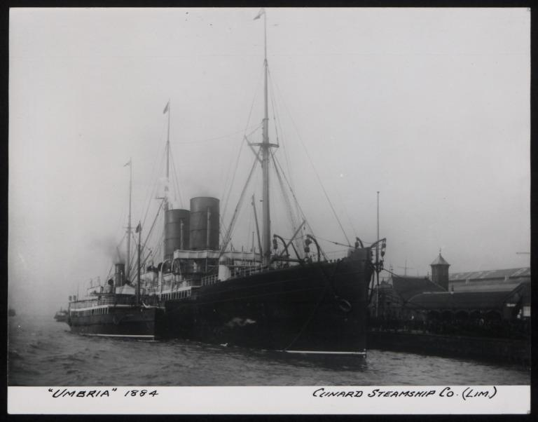 Photograph of Umbria, Cunard Line card