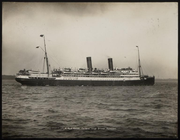 Photograph of Royal George, Cunard Line card
