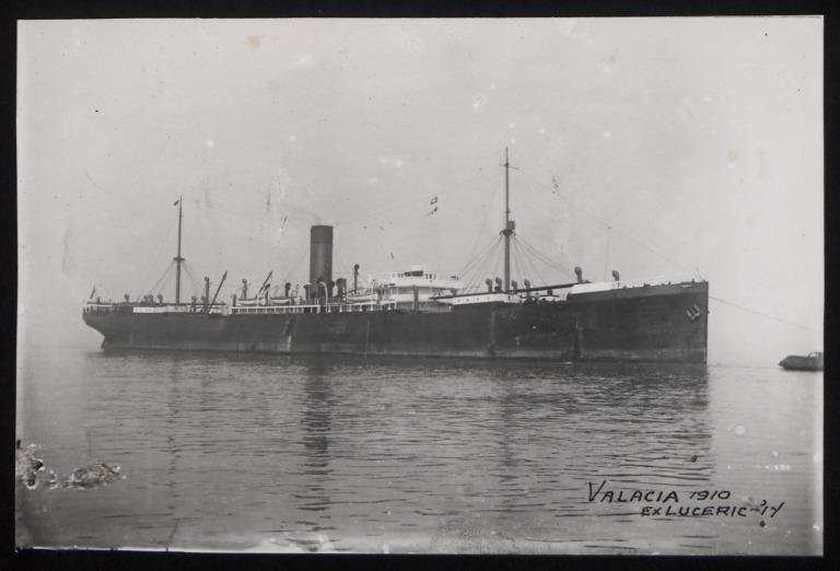 Photograph of Valacia, Cunard Line card