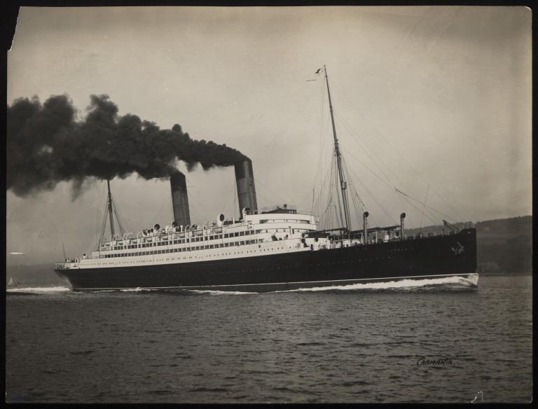 Photograph of Carmania, Cunard Line card